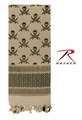 Rothco Shemagh Desert Tactical Scarf - Tan w/ Skulls