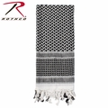 Rothco Shemagh Desert Tactical Scarf - White & Black