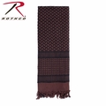 Rothco Shemagh Tactical Desert Scarf - Chocolate Brown