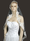 French Alencon Lace Mantilla Veil