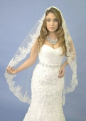 Hand-Beaded Lace Mantilla