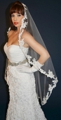 Lace Applique Mantilla Veil