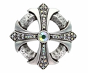 100328 Crystal AB Rhinestone Cross Celtic Belt Buckle Made In Italy