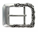 100403 Antique Silver Engraved Belt Buckle Made In Italy Belt Buckle