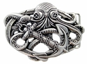 100575 Octopus Boat Anchor Belt Buckle Made In Italy