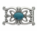 100638 Turquoise stone Belt Buckle Made In Italy