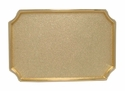 12855 Shiny Gold Plain Rectangular Belt Buckle