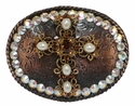 4277 Swarovski Rhinestone Cross Belt Buckle Fits 1 1/2""