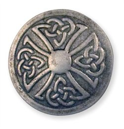 """71506-04 Celtic Stamped Steel Concho Round 1"""" (2.5 cm)"""