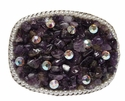 Amethyst and Crystals Belt Buckle