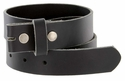 "BS105032 One Piece Full Genuine Leather Belt Strap 1-1/4"" (32mm) Wide-Black"