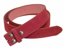 "BS66 Pink Suede Leather Belt Strap 1 1/2"" Wide"
