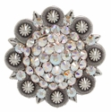"Crystal AB Swarovski Rhinestone Berry Belt Buckle Fit's 1 1/2"" Wide Belts"