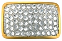Crystal Swarovski Rhinestone Belt Buckle Fits 1 1/2""