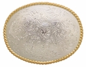 H8136 GSP Western Floral Engraved Belt Buckle