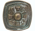 HA-0141 Celtic Cross vintage antique finish belt buckle