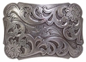 HA0038 LASRP Western Floral Engraved Belt Buckle