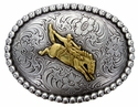 HA0434 ASAG-1 Gold Bronco Rider Rodeo Western Cowboy Belt Buckle