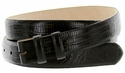 "Lizard Grain 1 1/8"" (30mm) wide Belt Strap - Black"