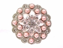 LPD-583 Pink Belt Rhinestone Buckle --ON SALE $2.95