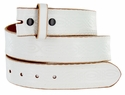 "Model 085 White Vintage Leather Belt Strap 1 1/2"" wide"