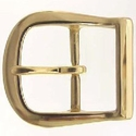 Rounded Heel Bar Solid Brass Belt Buckles