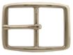 """S002B NP 1 1/4"""" Solid Brass Polished Nickle Finish Belt Buckle"""