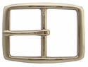 """S002B NP 1 3/4"""" Solid Brass Polished Nickle Finish Belt Buckle"""