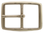 """S002B NP 1"""" Solid Brass Polished Nickle Finish Belt Buckle"""