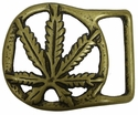 "Solid Brass Bud Buckle 1 1/2"" Wide"
