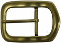 "Solid Brass Polygon Belt Buckle 1 1/2"" wide"