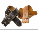 Tooled Embossed and Studded Belt Straps