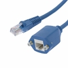 3Ft Panel-Mount Cat.5E Ethernet Cable Blue
