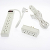 3pc Combo, 6-Outlet Power Strip 1.5Ft Cord; 6Ft 3-Outlet Cube Tap; 3-Outlet Power Tap
