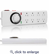 Timer Surge Protector 8-Outlet 5Ft Cord