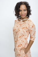 Orange Paisley Dress
