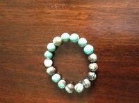 Turquoise Bracelet with Silver Bead