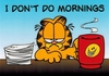 I Don't Do Mornings - Garfield (Fun Office Sign) - Velcro & Magnetic!