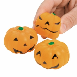 Click to Enlarge: Jack-O'-Lantern Stress Balls