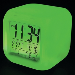 Click to Enlarge: LED Color-Changing Mood Clock