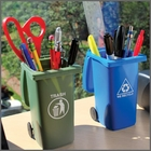 Trash & Recycling Mini Storage Bin Set