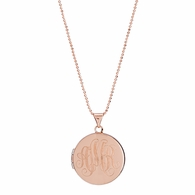 Circle Signet Locket Necklace