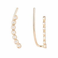 Diamond Bezel Ear Pin