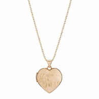 Heart Signet Locket Necklace