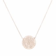 Jumbo Circle Signet Necklace