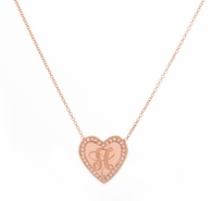 Jumbo Heart Signet Necklace