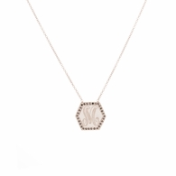 Jumbo Hex Signet Necklace