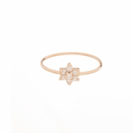 Mini Diamond Floret Ring