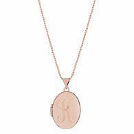 Oval Signet Locket Necklace