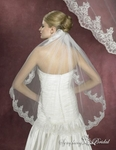 1-Tier Alencon Lace Beauty Bridal Veil
